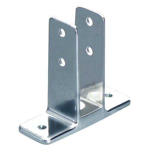 Global partitions chrome zamac urinal screen bracket set for Bathroom divider hardware