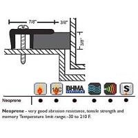 """NGP 1-1/4"""" X 3/8"""" Neoprene Perimeter Seal 132"""