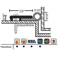 "NGP 1-3/16"" X 5/16"" Polyurethane Perimeter Seal 150UA"