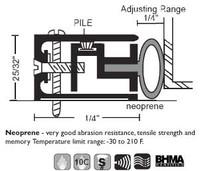 "NGP 1-1/2"" X 25/32"" Adjustable Perimeter Seal 1038"