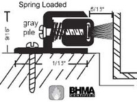 """NGP 1-3/8' X 9/16"""" Spring Loaded Adjustable Perimeter Seal with Pile Insert 141P"""