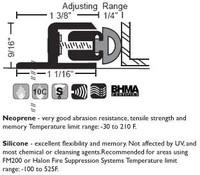 "NGP 1-3/8"" X 9/16"" Adjustable Perimeter Seal 106"