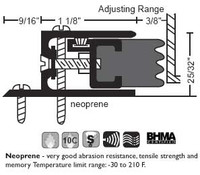 "NGP 2-1/16"" X 25/32"" Adjustable Perimeter Seal 104"