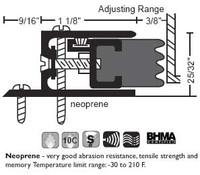 "NGP 2-1/16"" X 25/32"" Adjustable Perimeter Seal 104"