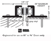 "NGP 1-1/8"" X 5/8"" Magnetic Astragal Set 149M"