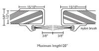 """NGP 15/16"""" X 5/8"""" Glass Door Astragal Set A650"""