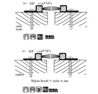 "NGP 5/8"" X 7/16"" Surface Mounted Astragal Set 605"