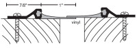 "NGP 7/8"" X 1"" Surface Mounted Astragal Set 97"