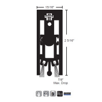 """NGP 15/16"""" X 2-5/16"""" Heavy Duty Surface Mounted Automatic Door Bottom 680A"""