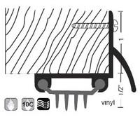 """NGP 1-1/2"""" Finned Vinyl Door Shoe 318V"""