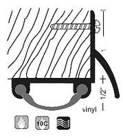 """NGP 1-1/2"""" Smooth Vinyl Door Shoe with Drip Strip 18V"""