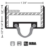 "NGP 1-3/4"" X 1-1/8"" Neoprene Door Shoe 15NA"