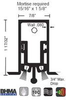 "NGP 7/8"" X 1-17/32"" Heavy Duty Mortise Automatic Door Bottom 683"