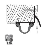 """NGP 1-3/4"""" X 1-3/8"""" Neoprene Door Shoe with Drip Strip 118N"""