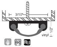 """NGP 3/16"""" X 1/2"""" Smooth Vinyl Door Shoe 12V"""