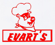 evart's custom bbq sign with custom options such as: lengths, widths and over 30+ different powder coat options to choose from. Stop in at our storefront in Lamar, Mo. USA or contact us at 800-283-7107 or 417-682-5551