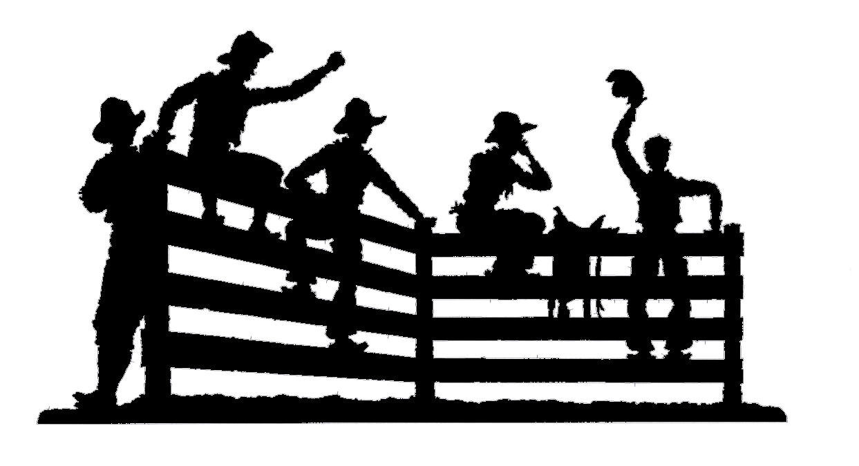 Sitting Cowboys Silhouette