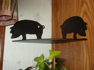 Corner shelf with pig theme, corner rack for cookbooks, utencils, pots, pans,etc