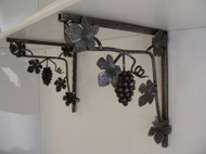 Joanne's custom made wall brackets, corner shelf brackets, grapevine corner brackets, grapevine shelf brackets, custom grapevine corner shelf brackets