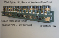 Joanne's wall potrack with mountain style front design and optional width and length. Wall panracks and potracks come with over 30+ different powder coat options to choose from.