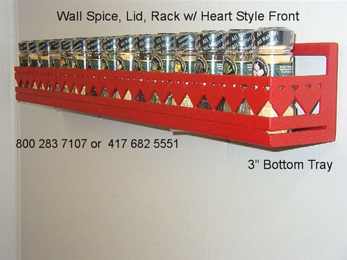 wall spice rack with heart front design, wall potrack with heart front design, wall panrack with heart front design, heart wall spice rack