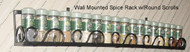 dropped Wall Spice & Lid Rack  Round Scroll Front