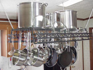 "Hanging Pot Rack w/ Western Front 40"" w/ Black Texture"