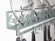 Wall Spice & Lid Rack w/ Ivy Vine Front