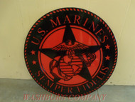 Plasma Cut out Marine Semper Fi 2' x 2'