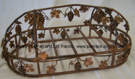 "Hanging Pot Rack Oval Grapevine, Copper Patina Finish 18"" x 30"""