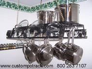 Hanging Artistic Grapevine Pot Pan & Lid Rack