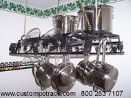 Hanging Artistic Grapevine Pot Pan & Lid Rack