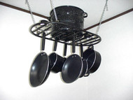 Hanging Flat Oval Pot & Pan Rack