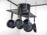 hanging flat potrack, flat hanging panrack with no front design, ultimate flat sleek design to multiply kitchen space, hanging panrack with flat front design