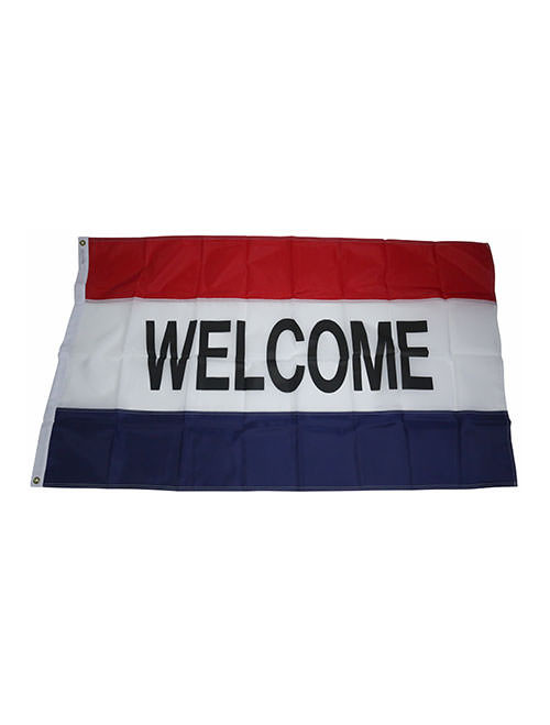 Welcome Flag - Red/White/Blue (BA-800W)