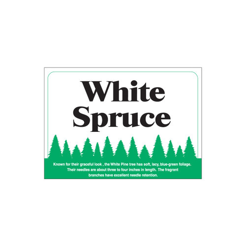 Species Sign - White Spruce (JB-SP-9)