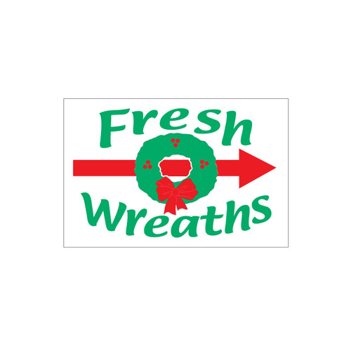 Wreath Directional Sign (JDS-219)