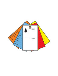 5-Color 2-Part Secure Tyvek Tree Tags (TT-508)