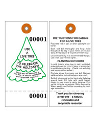 Living Tree Tyvek Tag w/Wire (TT-715CS)