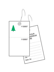 2-Part Weatherproof Tyvek Tree Tags (TT-702CS)