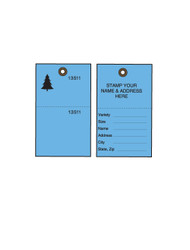 Blue Tyvek Tree Tags w/ Wire Ties - 500/CS (TT-500BWCS)