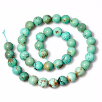 Baja Turquoise(Mexico)Beads  10mm Rounds