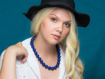 Lapis Necklace- 16mm Round Beads