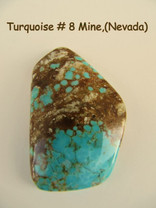 #8 Mine Turquoise (Nevada) 38x24mm 40 cts 8M38