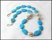 Sleeping Beauty  Necklace w/ SS Nugget Beads SBN2a