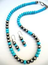 Sleeping Beauty w/SS Beads & Earrings-SBN3
