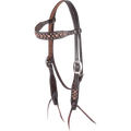 Martin Western Headstall with Copper Spots