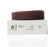 "Scalloped-Edge Belts, 1"" x 91"" 320 grit - FISC-1"