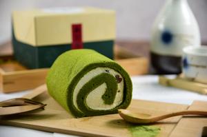 京都〈茶游堂〉濃茶抹香小豆卷蛋