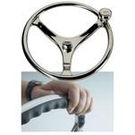 "Edson 13"" SS Comfort Grip Steering Wheel w\/PowerKnob"